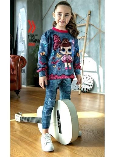 Riccotarz Kız Çocuk Kelebekli Lol Bebek Taytlı Takım Renkli